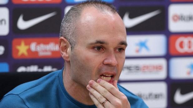 Iniesta anunció que dejará el Barcelona en una conferencia de prensa
