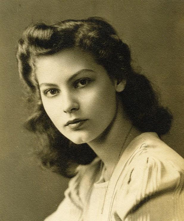 La actriz, con 15 años