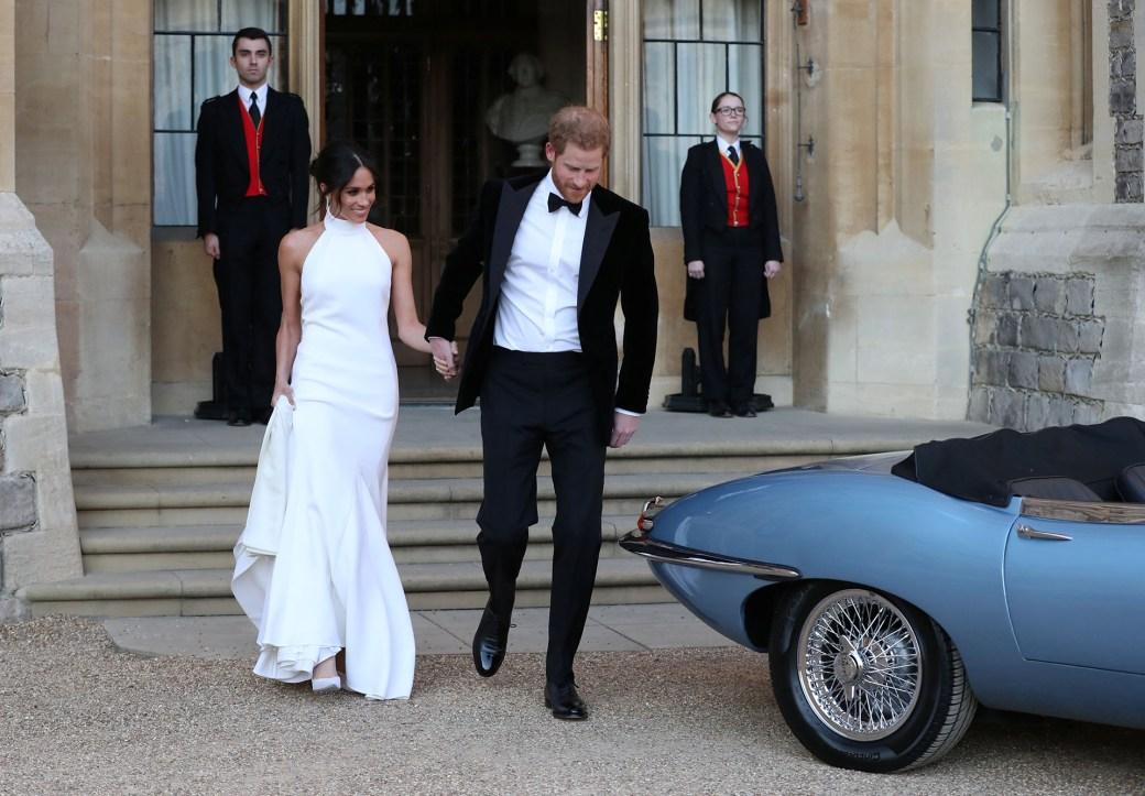 Meghan Markle lució un vestido Stella McCartney para la recepción en la mansión Frogmore