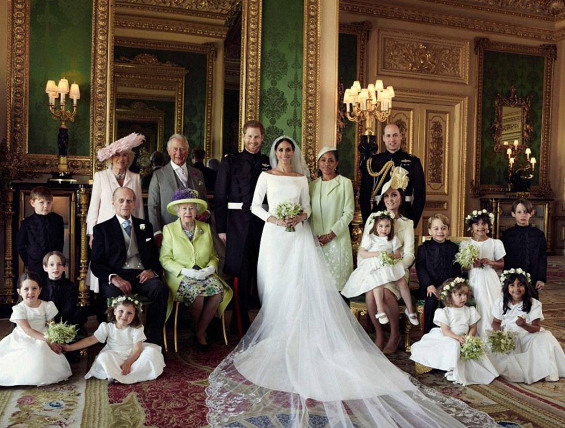 Una de las fotos oficiales del casamiento real entre Meghan Markle y el prínicpe Harry