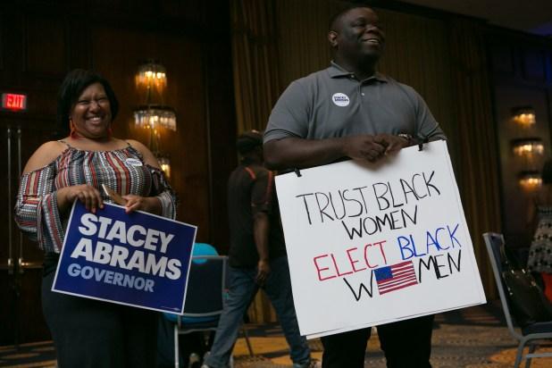Stacey Abramspuede serla primera gobernadora afroamericana. (Jessica McGowan/Getty Images/AFP)