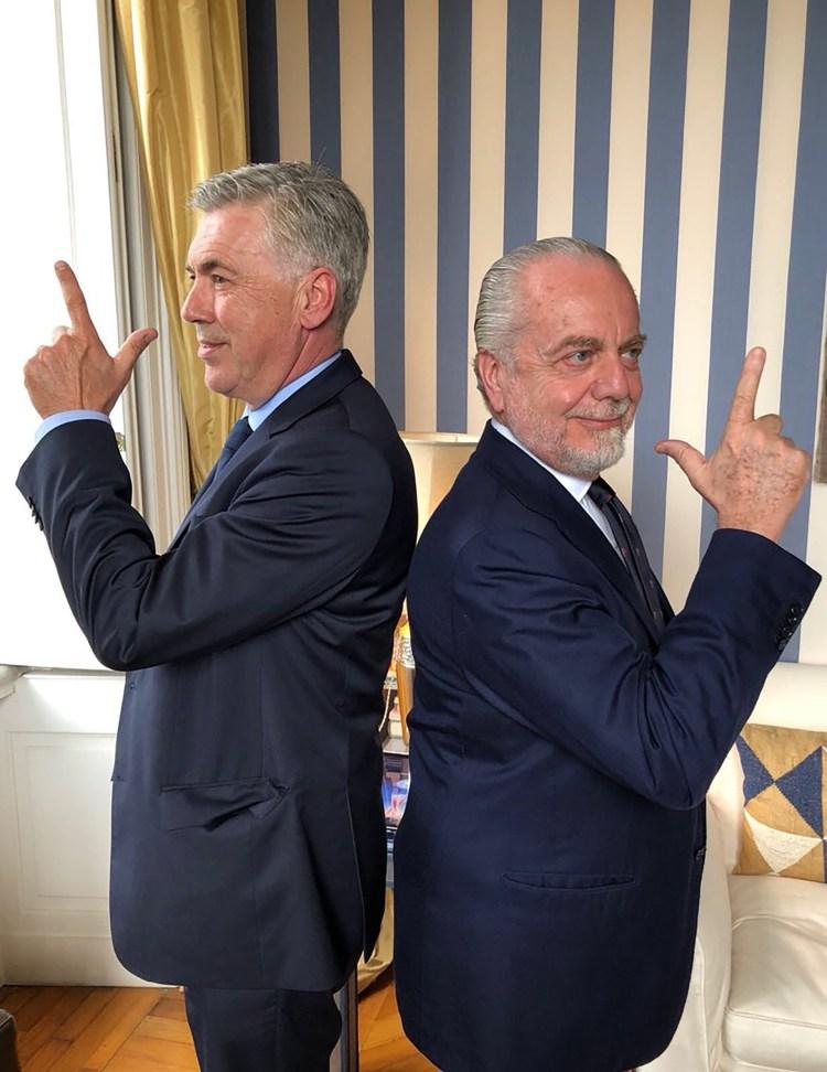 La imagen de Ancelotti y De Laurentis