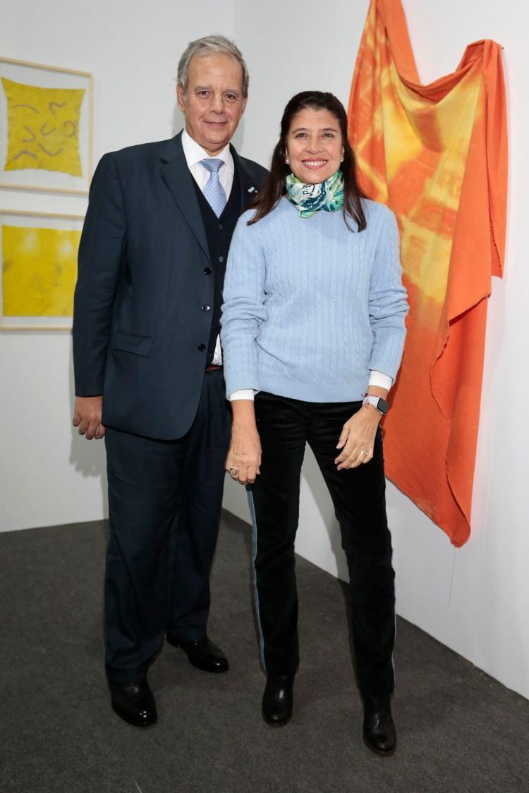 La artista plástica Marta Diez y Alejandro Caride