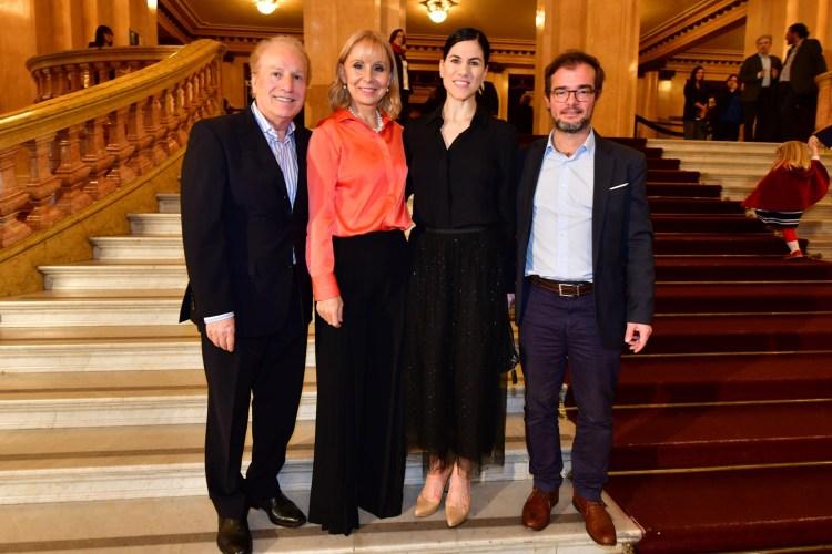 Maestro Arturo Diemecke; Directora General Ma. Victoria Alcaraz, Directora del Ballet Estable Paloma Herrera, y el Ministro de Cultura de CABA Enrique Avogadro