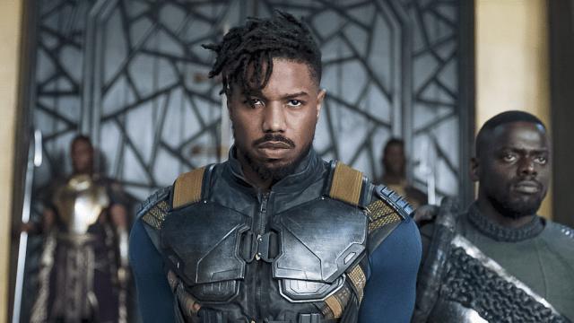 """El actor Michael B Jordan en la película """"Black Panther"""" (Cortesía)"""