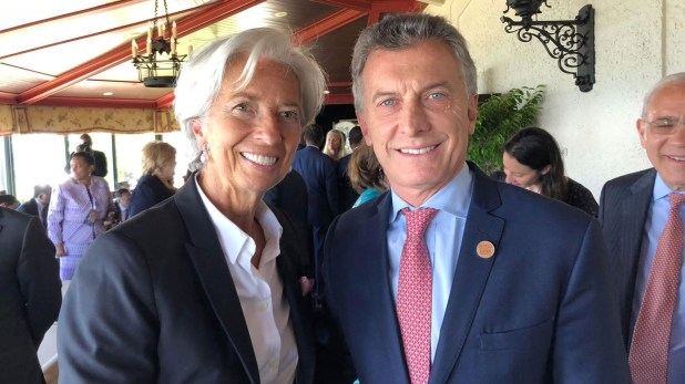 Macri y Lagarde, en la cumbre del G7 en Canadá