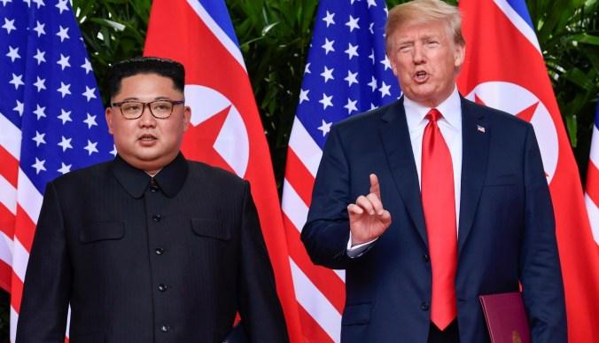 Donld Trump y Kim Jong-un en Singapur, el 12 d ejunio de 2017.