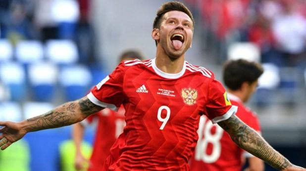 Fyodor Smolov, delantero de la Selección de Rusia