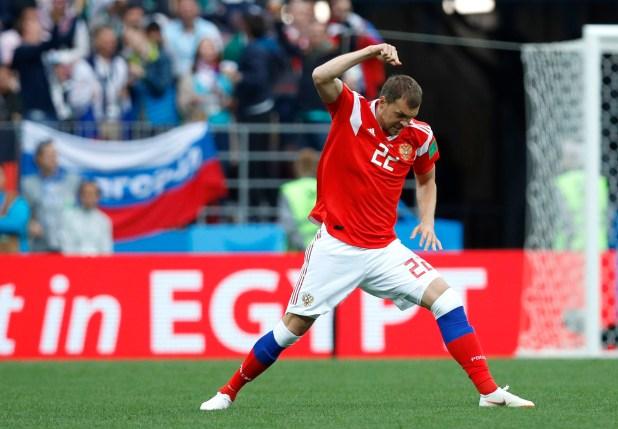 Artyom Dzyuba la punta de lanza del equipo ruso