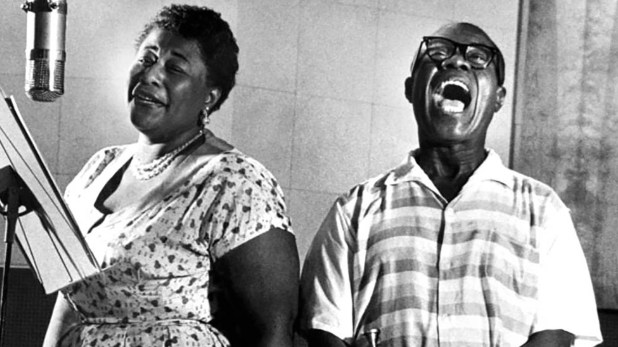 Dos potencias. Ella Fitzgerald y Louis Amstrong trabajaron juntos y formaron uno de los dúos más excepcionales de la música de todos los tiempos.