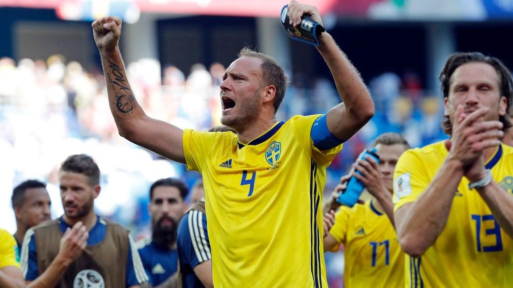 Suecia se impuso por 1 a 0 en su debut ante Corea del Sur (Foto: AP)