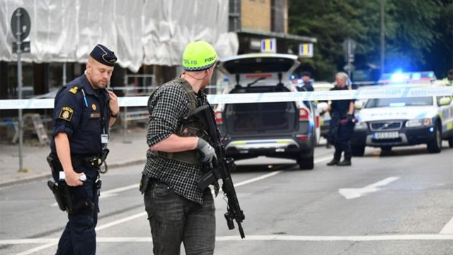 La policía sueca acordonó la zona pero aún se desconoce si el tirador fue capturado o no