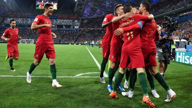 Portugal celebró la impresionante producción de Cristiano Ronaldo ante España en la primera fecha de la fase de grupos del Mundial de Rusia 2018 (AFP)