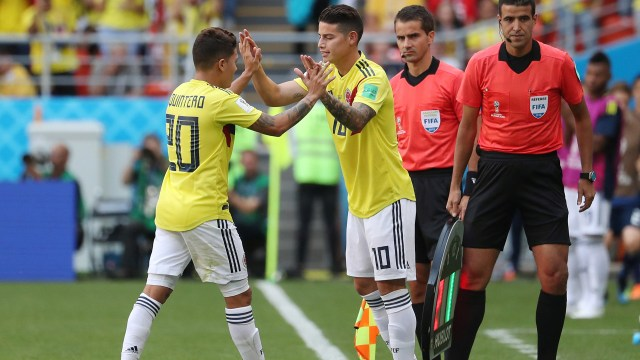 James Rodriguezreemplazó a los 59 minutos al autor del gol colombiano(REUTERS/Ricardo Moraes)