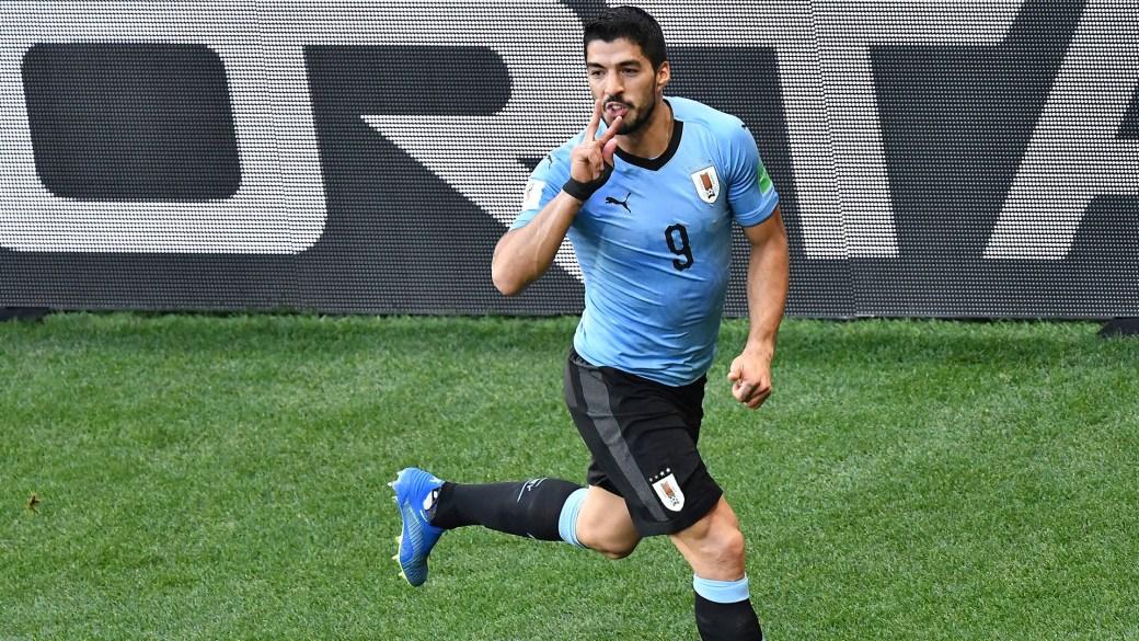 Luis Suárez marcó el gol del triunfo ante Arabia Saudita (AFP)