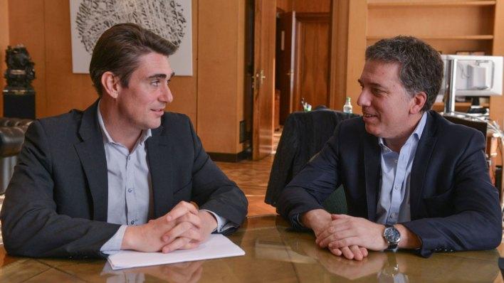 Javier Iguacel y Nicolás Dujovne, secretario de Energía y ministro de Hacienda
