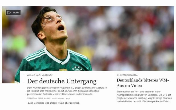 """La caída alemana"", dice el Frankfurter Allgemeine"