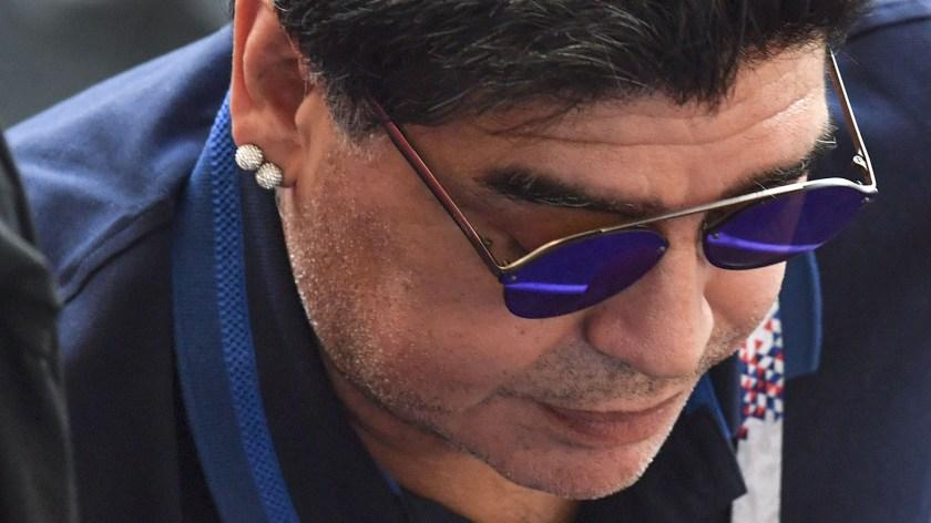lLa prensa mexicana criticó a Diego Armando Maradona (AFP PHOTO)