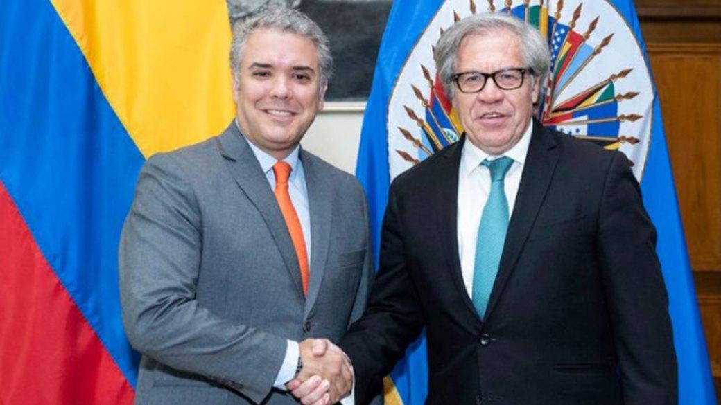 El presidente electo de Colombia Iván Duque y el secretario general de la OEA, Luis Almagro, se verán este jueves de nuevo