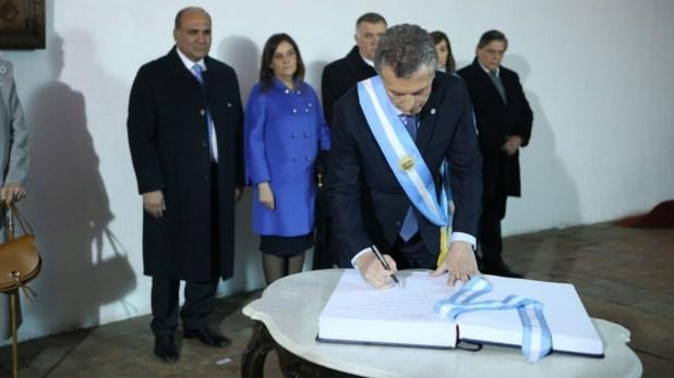 El jefe de Estado visitó la Casa de Tucumán, cuna de la independencia de la Argentina