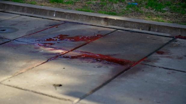 La escena del crimen (Foto: Gustavo Gavotti)
