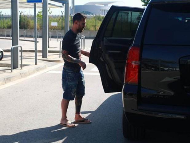 El capitán argentino fue directamente desde el aeropuerto a su hogar (www.mundodeportivo.com)