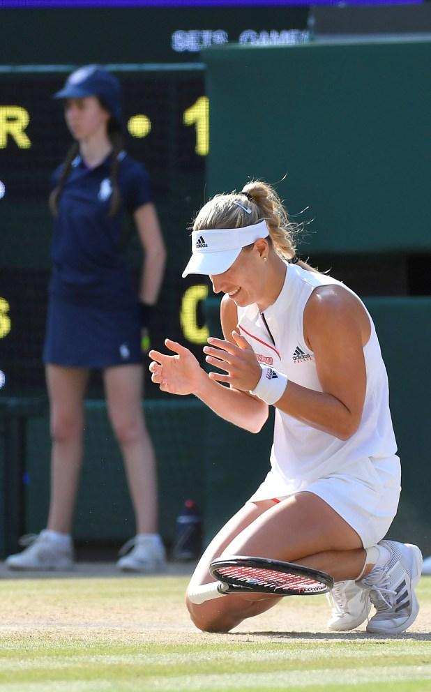 Wimbledon Kerber Campeona, Julio 2018 (Reuters)