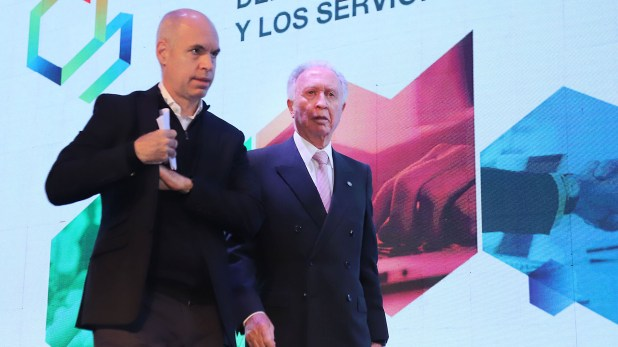 El jefe de Gobierno porteño junto a Jorge Di Fiori, presidente de la CAC (Prensa CAC)