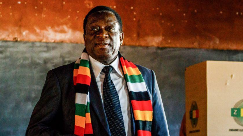 El presidente Emmerson Mnangagwa
