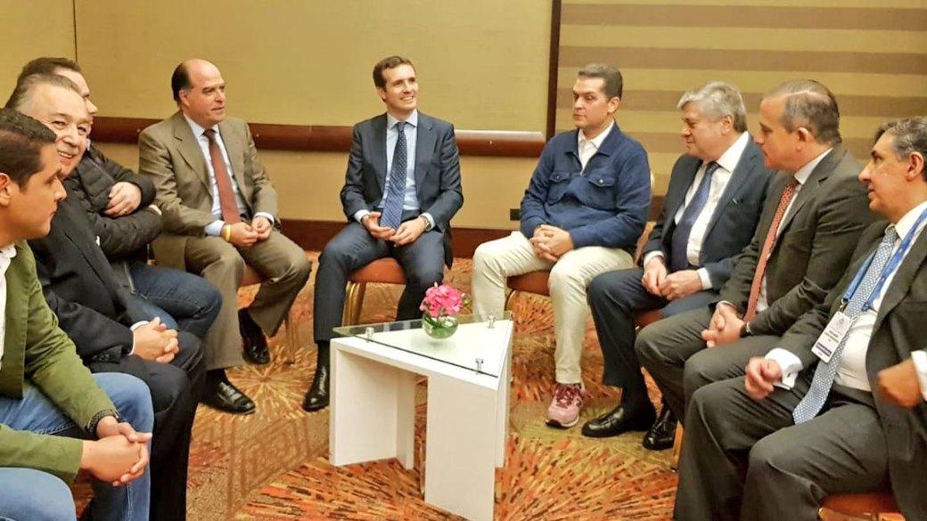 Julio Borges se reunió con representantes del gabinete de Duque y con el presidente del Partido Popular español, Pablo Casado