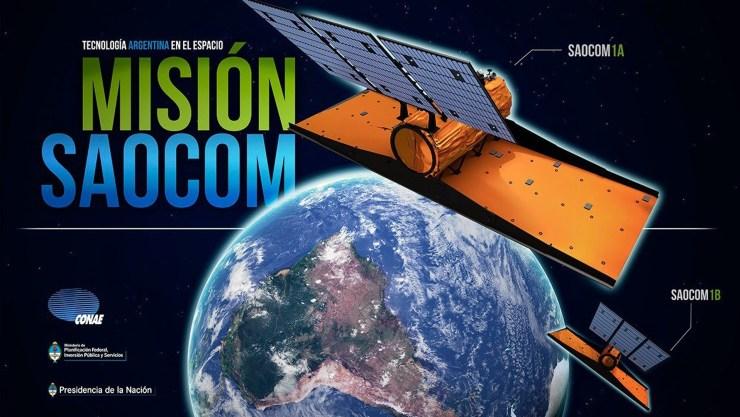 El Saocom 1A es un satélite de órbita baja con fines científicos y llevará un radar de apertura sintética