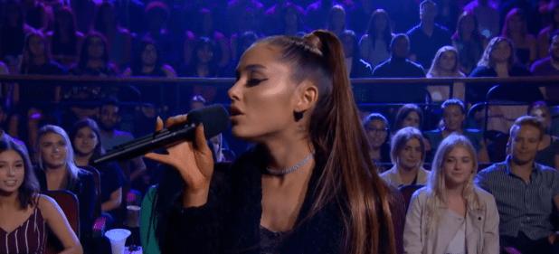 Ariana Grande se encuentra promocionando su nuevo disco, Sweetener