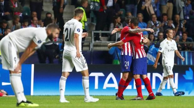 El Atlético de impuso al Real Madrid en la Supercopa de Europa esta temporada (Reuters)