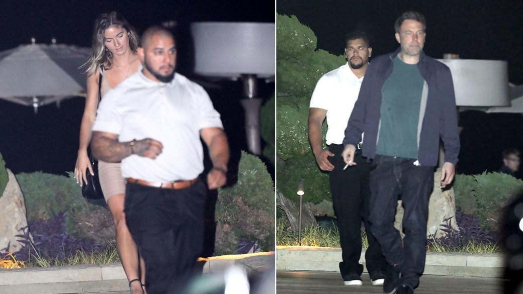 La pareja fue captada a la salida de un restaurante en Malibú, California. (The Grosby Group)