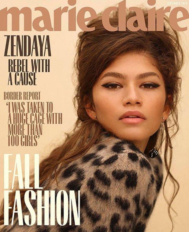 Zendaya, en tonos tierra, protagoniza el ejemplar de septiemre de Marie Claire