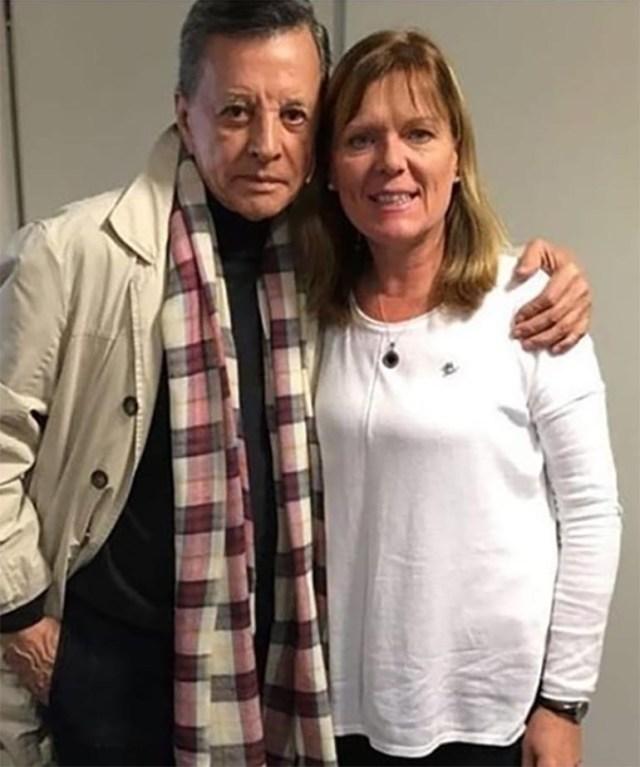 Ines Stork con Palito Ortega