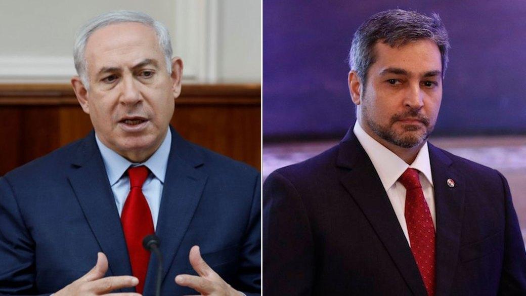 Benjamin Netanyahu y Mario Abdo Benítez