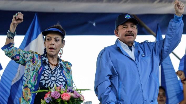 Rosario Murillo y Daniel Ortega (AFP)