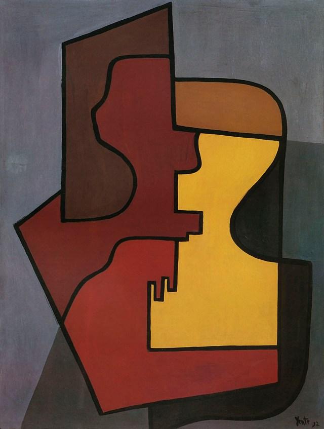 YENTE. Composición, 1937. Óleo sobre hardboard. 61,5 x 46,8 cm.