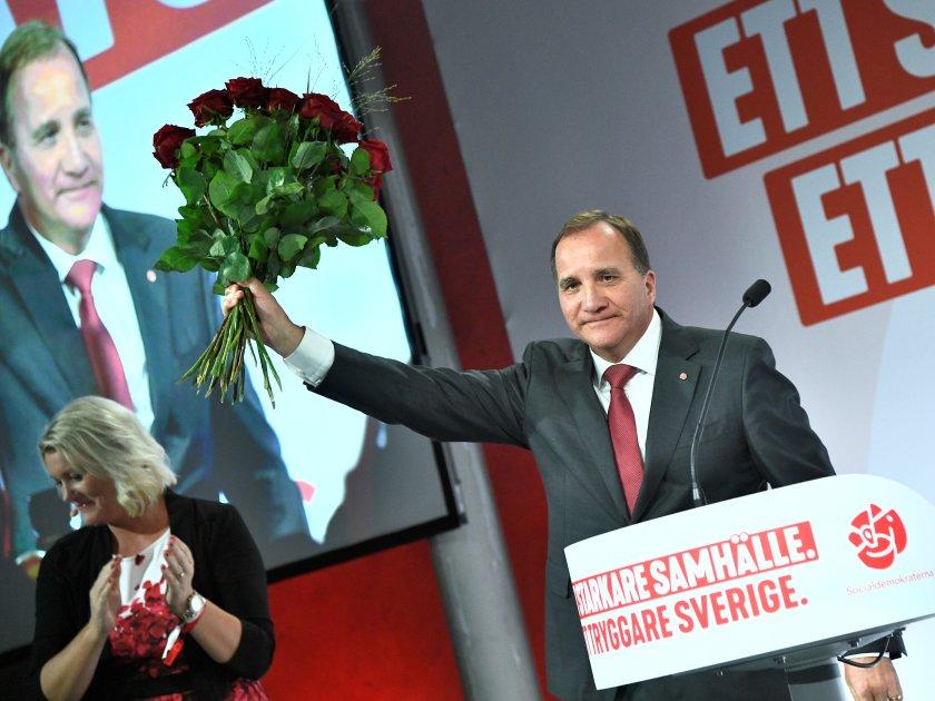 El primer ministro sueco, el socialdemócrata Stefan Lofven (TT News Agency/Claudio Bresciani/via REUTERS)