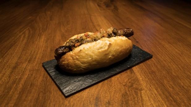 El pan que tenía el hot dog en el festival era hecho en Dinamarca, y fue lo único que no fue realizado por El Baqueano