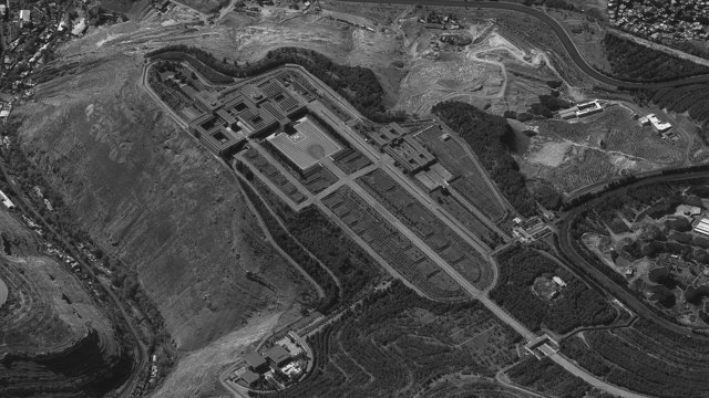 El satélite Ofek 11 captó la residencia presidencial del dictador Bashar al Assad