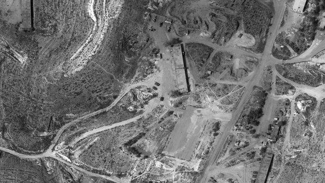Imagen de una base militar del régimen sirio
