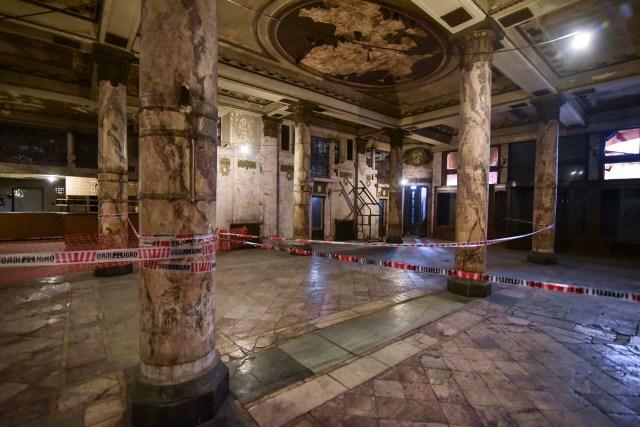 El público podrá visitar y ver los trabajos de restauración en la antigua Confitería del Molino, frente al Congreso Nacional (Guille Llamos)