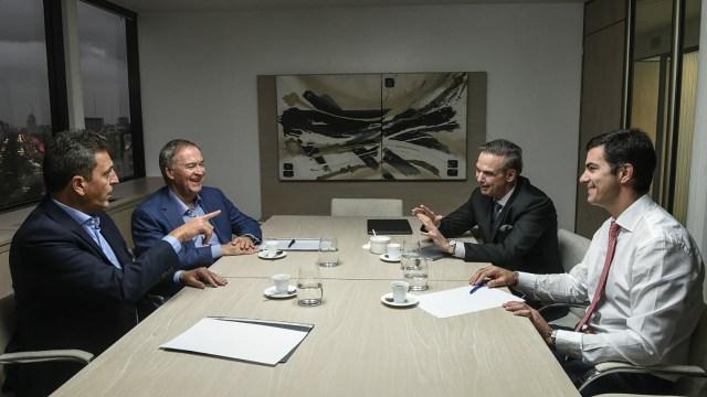 La foto de los cuatro dirigente peronistas