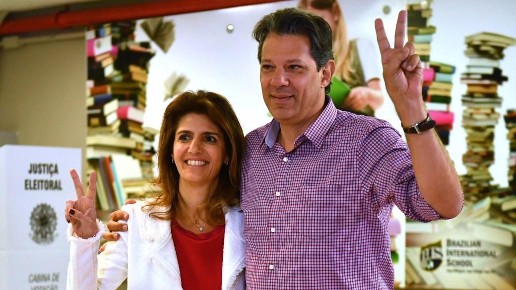 Fernando Haddad, candidato del PT (AFP)
