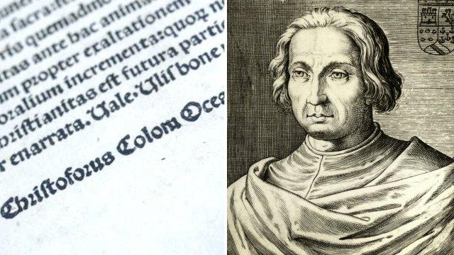 En 1493 Cristóbal Colón hizo traducir al latín e imprimir en tres ejemplares la carta que había escrito con el relato de su primer viaje a las Indias. Los 3 incunables fueron robados en distintos momentos y recuperadas durante los intentos de venderlos en el mercado negro
