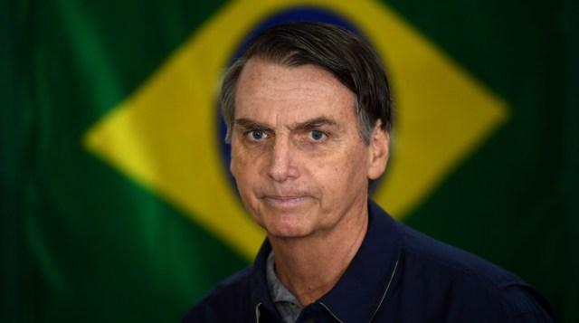 Jair Bolsonaro, presidente electo de Brasil (Photo by Mauro PIMENTEL / AFP)