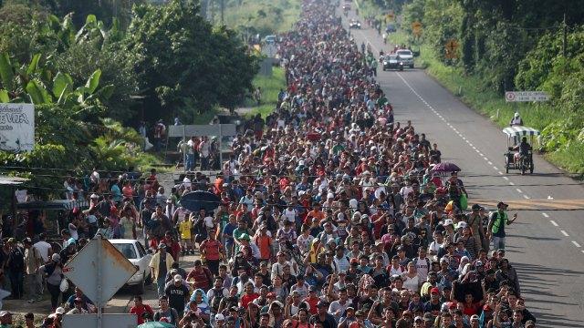La caravana migrante en México. (Foto: Reuters)