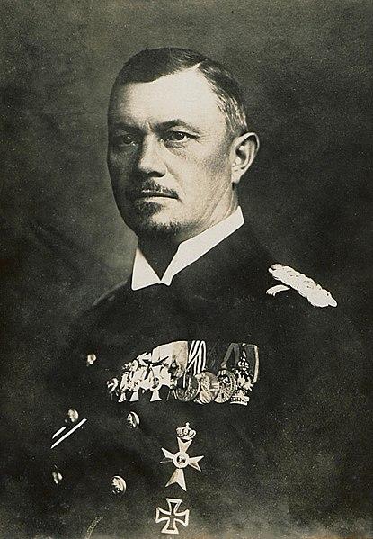 El almirante Reinhard Scheer, jefe del Estado Mayor Naval en 1918 (Bundesarchiv)